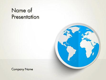 Globe in Flat Design Presentation Template, Master Slide