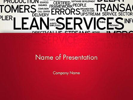 Lean Services Word Cloud Presentation Template, Master Slide