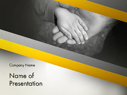 Supporting Hand Presentation Template, Master Slide