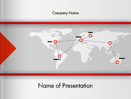 Company Branches Presentation Template, Master Slide