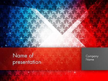 USA Theme Presentation Template, Master Slide