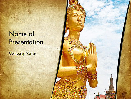 Temples in Bangkok Presentation Template, Master Slide