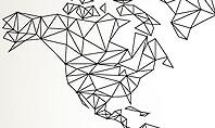 Word Map in Polygonal Design Presentation Template