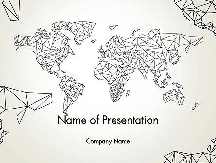 Word Map in Polygonal Design Presentation Template, Master Slide