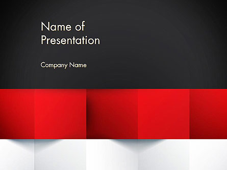 Black Red and White Geometrical Presentation Template, Master Slide