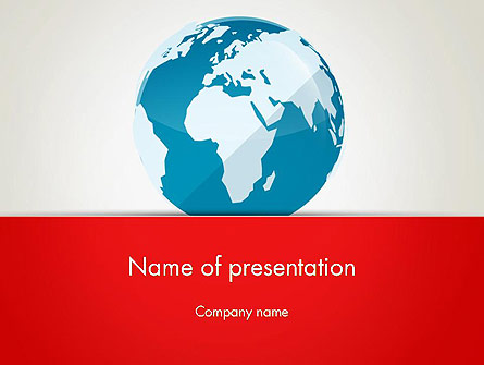 Globe in Flat Style Presentation Template, Master Slide