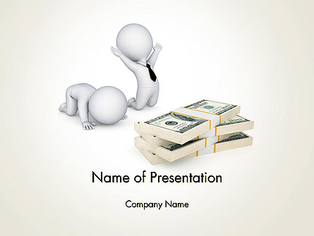 3D Small People and Dollar Packs Presentation Template, Master Slide