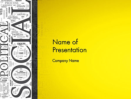 Social Word Cloud Presentation Template, Master Slide