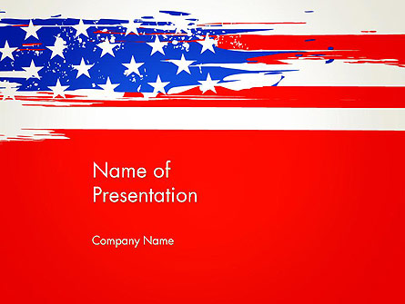 United States Flag Theme PowerPoint Presentation Template, Master Slide