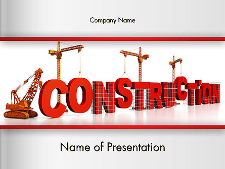 Building Construction Presentation Template, Master Slide