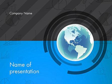 Globe Theme with Charts Presentation Template, Master Slide