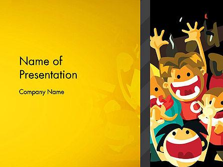 Sports Fans Presentation Template, Master Slide