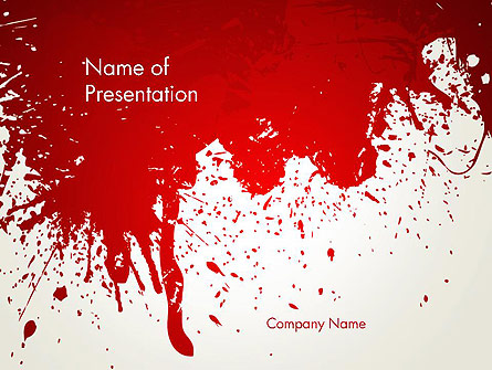 Murder Presentation Template, Master Slide