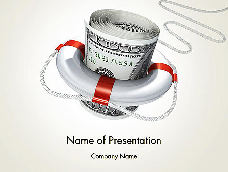 Financial Rescue Presentation Template, Master Slide