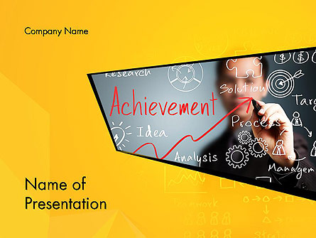 business achievement presentation template for powerpoint and, Achievement Presentation Template, Presentation templates