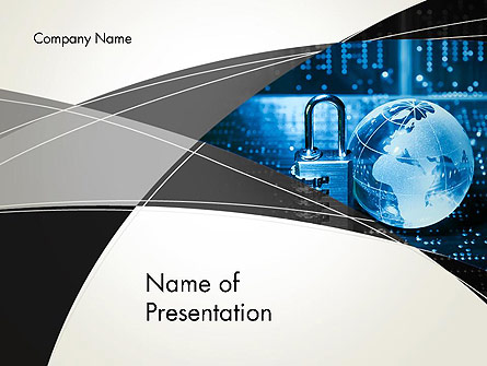 Cybersecurity Presentation Template, Master Slide