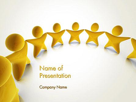 Stars Team Presentation Template, Master Slide