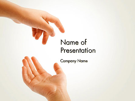 Child Outstretched Hand Presentation Template, Master Slide