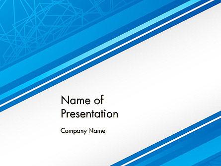 Strict Corporate Tilted Background Presentation Template, Master Slide