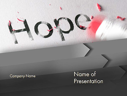 Losing Hope Presentation Template, Master Slide