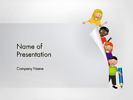 Education Cartoon Presentation Template For Powerpoint And Keynote