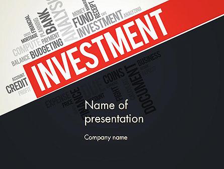 Investment Word Cloud Presentation Template, Master Slide