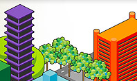 Isometric City Center Presentation Template