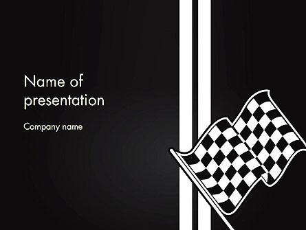 Racing Flag Presentation Template, Master Slide