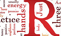 Reiki Therapy Word Cloud Presentation Template