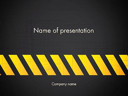 Under Construction Sign Presentation Template, Master Slide