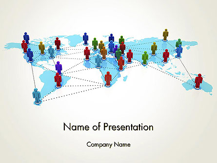 Global Virtual Teams Presentation Template, Master Slide
