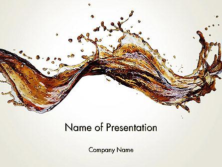 Cola Splash Presentation Template, Master Slide