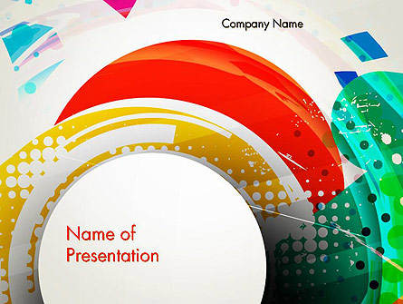 Stir Colored Layers Abstract Presentation Template, Master Slide