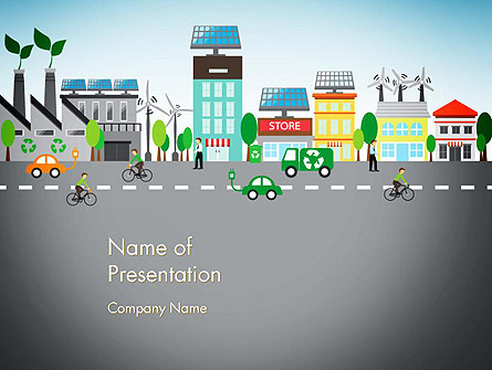 Nature Friendly Eco City Presentation Template, Master Slide
