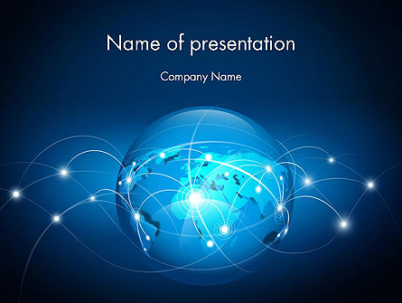 Abstract World Map Presentation Template, Master Slide