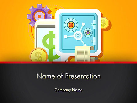 Internet Banking Presentation Template, Master Slide