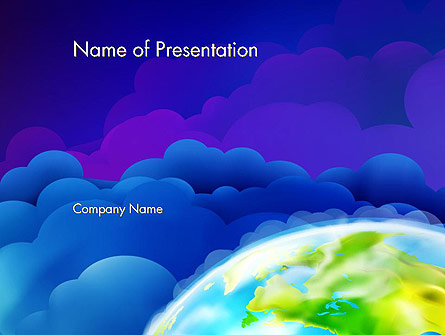 Outer Space Abstract Presentation Template, Master Slide