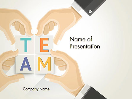 Team Building Blocks Presentation Template For Powerpoint And