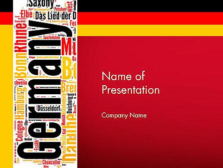 Germany Word Cloud Presentation Template, Master Slide