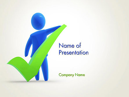 Stickman with Check Mark Presentation Template, Master Slide
