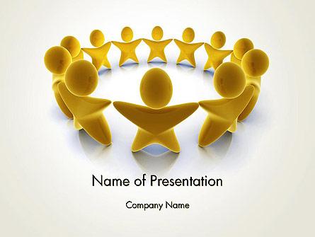 Golden Circle Presentation Template, Master Slide