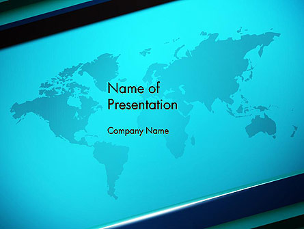 Turquoise World Map Presentation Template, Master Slide