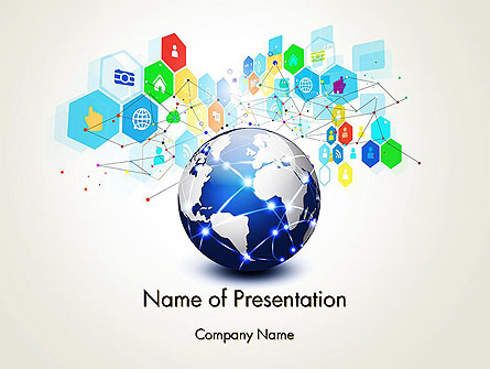 Global Application Network Presentation Template, Master Slide