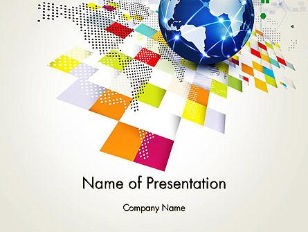 Technology World Concept Presentation Template, Master Slide