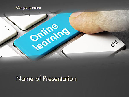 Online Learning Keyboard Presentation Template For Powerpoint And Keynote Ppt Star
