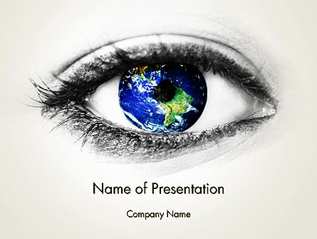 Globe in an Eye Presentation Template, Master Slide