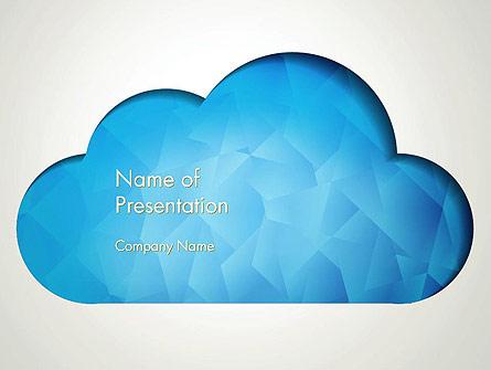 Blue Cloud Presentation Template, Master Slide