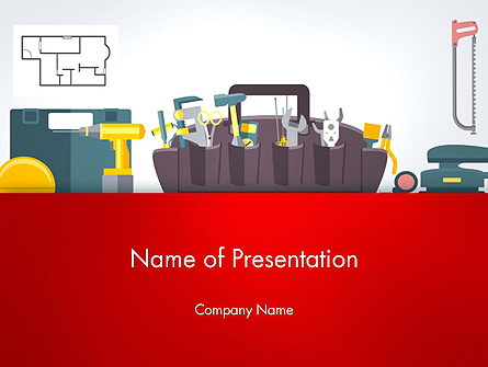 Construction Tools and Equipment Presentation Template, Master Slide