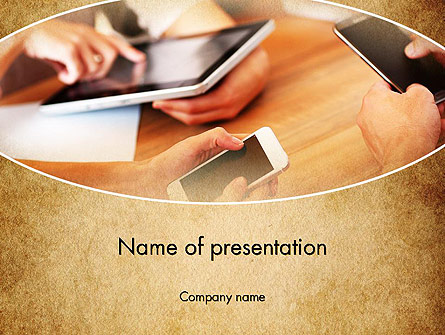 Digital Addiction Presentation Template, Master Slide