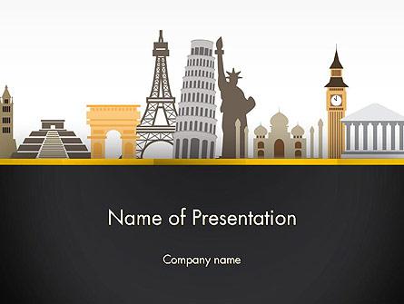 Landmarks from Around the World Presentation Template, Master Slide